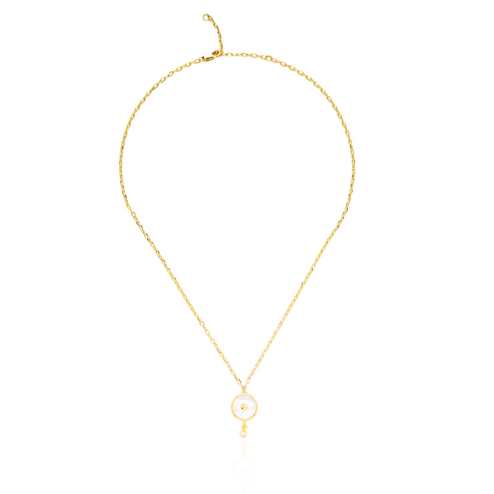 Clothing accessories fashion necklace Retro exquisite Y-shaped women's necklace round center small pendant