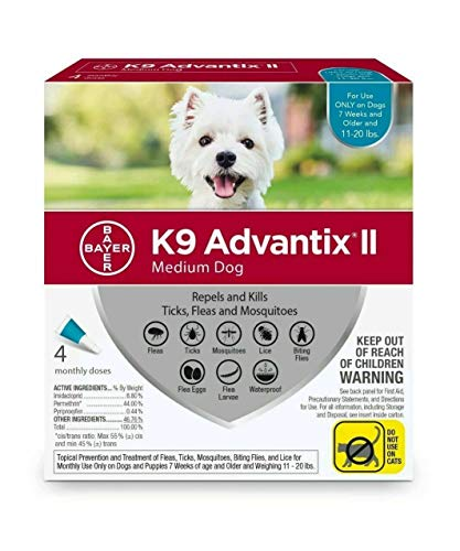 Flea Treatment for Dog 11-20 lbs by K-9 Advantix