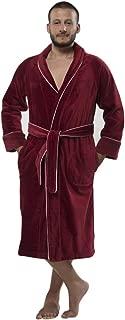 Louxor Velour Shawlcollar Men's Bathrobe Wrap in Style