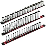 ARES 70204-3-Piece Aluminum Socket Organizer - 1/4-Inch, 3/8-Inch, and...