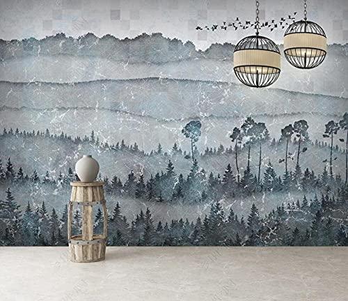 Papel Pintado Pared Papel Dormitorio Salon Decoración de Paredes Paisaje Abstracto Del Bosque De Asuka Fotomural 3D Papel Tapiz Custom Mural Pared 250x175cm