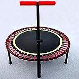 XLYAN Fitness-Trampolin Mit Optionaler Klappfunktion Ø 110 cm - Leise Und Gelenkschonende Bungee-Seile - Rebounder-Trampolin Mit Höhenverstellbarem Griff,Round