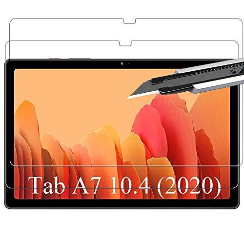 AHATHI Protector Pantalla para Samsung Galaxy Tab A7 10.4 (2020),9H Dureza,Sin burbujas,Anti-huella digital,Anti- Arañazos-2 Unidades