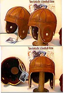 Cordovan Rust Leather Football Helmet