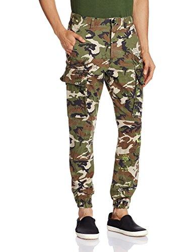 Replay, Cargo M9508E, Herren Herren Jeans Hose Stretchdenim Beige Green Camouflage W 36 L 30 [21800]