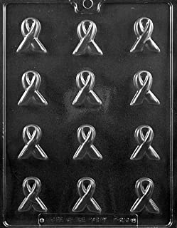 cancer ribbon chocolate molds