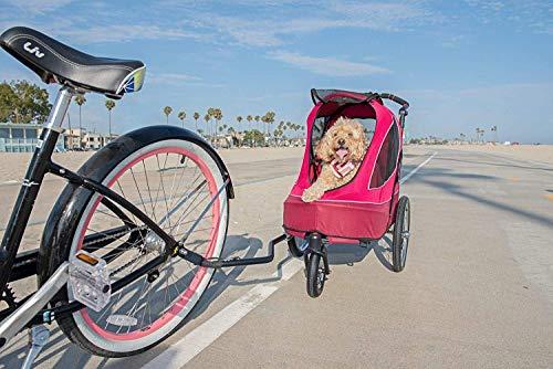 PETIQUE Bike Adapter for All Terrain Jogger Pet Stroller Bike Adapter, Black, One Size (BA01000000) 3