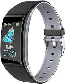 Rastreador de Ejercicios, Pantalla Color Reloj Pulsómetro Presión sanguínea Monitor de Sueño Función fisiológica Femenina Podómetro Impermeable Ip67 Bluetooth Reloj Inteligente