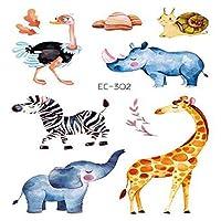 キッズガールズボーイズ誕生日パーティー用品のための10枚一時的な入れ墨ステッカーの動物柄,Ec302