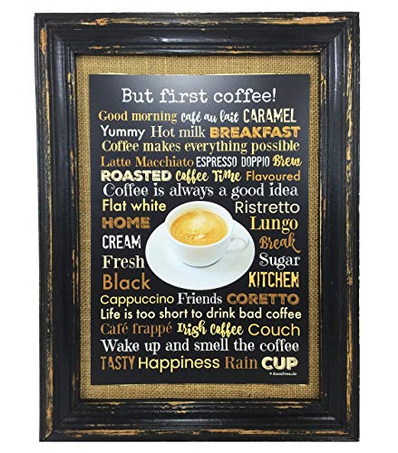 Kaffee Poster A4 Print Druck Coffee Café But first coffee
