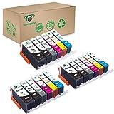Supricolor 18 Pack PGI-225 CLI-226 Ink Cartridges High Yield Compatible with PIXMA iP4820 iP4920 iX6520 MG5120 MG5320 MG6120 MG6220 MG8120 MG8220 MX712MX882 MX892 Wireless(with Gray)