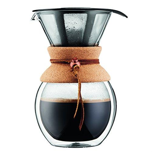 BODUM Ekspres do kawy, podwójna ściana, uchwyt z korka, 8 filiżanek, szkło, 91 ml