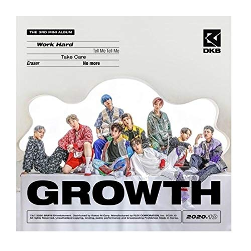 DKB Growth 3rd Mini Album CD+64pBooklet+1p Post+1p PhotoCard+1p Sticker+Message PhotoCard Set+Tracking Kpop Sealed