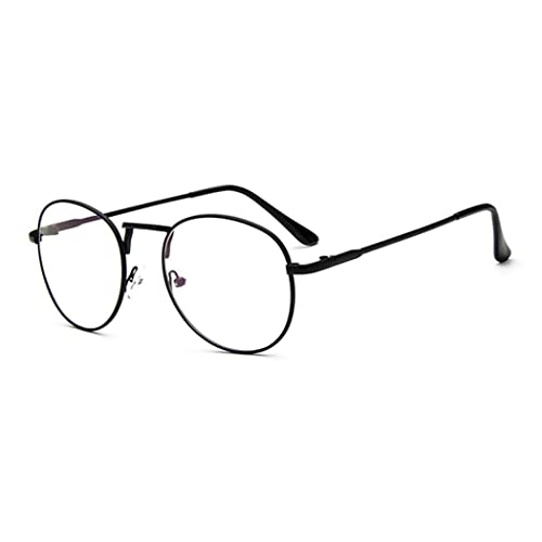 21c4fc4ff9a Sunbo Unisex Round Metal Frame Clear lens Vintage Retro Geek Fashion Glasses  Specs