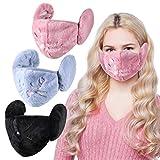 3 Piezas de Bandanas de Invierno Frío Medios Pasamontañas Coberturas Faciales con Orejeras Protección Facial de Invierno para Mujeres