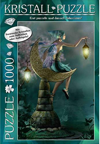 Bavaria Home Style Collection Puzzle 1000 Teile Fantasy I Funkelndes Jigsaw Puzzle ab 8 Jahre für Mädchen Jungen Erwachsene mit Swarovski Kristallen zum Aufkleben o. Aufbügeln (Dream Fairy)