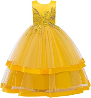Girls Wedding Flower Girl Dresses Pageant Party Long Tulle Dress