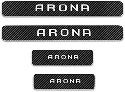 Anti-Kratz-Platte für Autoschwelle für Passend für 4 Stück Externe Carbon-Faser-Leder-Auto Kick-Platten Pedal for SEAT ARONA, Einstieg Willkommen Pedal-Tritt Scuff Threshold Bar Protectiv.