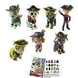 Lote 7 Figuras Comansi Patrulla Canina Pirata - Chase - Marshall - Rocky - Rubble - Skye - Zuma...