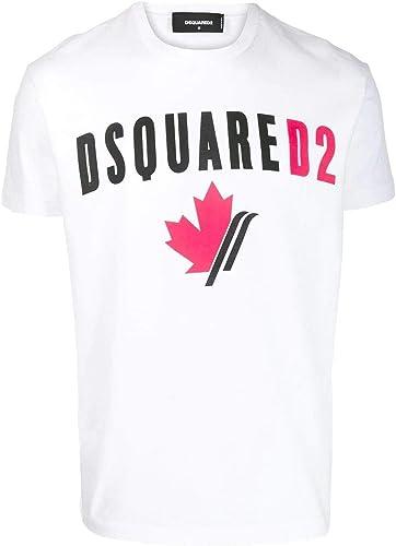 Dsquarouge2 Homme S74GD0563S22427100 Blanc Coton T-Shirt