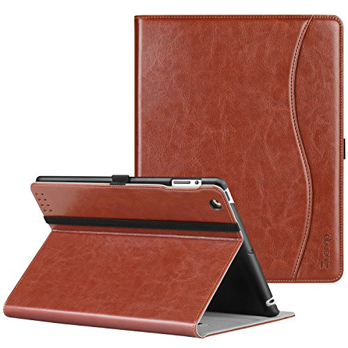 Ztotop iPad 2 3 4 Case (Oldest Models), Smart Premium Leather Stand Cover with Auto Wake/Sleep for iPad 4th Generation with Retina Display, iPad 3rd & iPad 2nd Generation Tablet, Brown