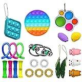 Wangduodu 23 Pack Sensory Fidget Toys Set, Paquete de Juguetes Sensoriales, Kit de Juguetes Antiestrés para Terapia sensorial para ADHD, Autismo