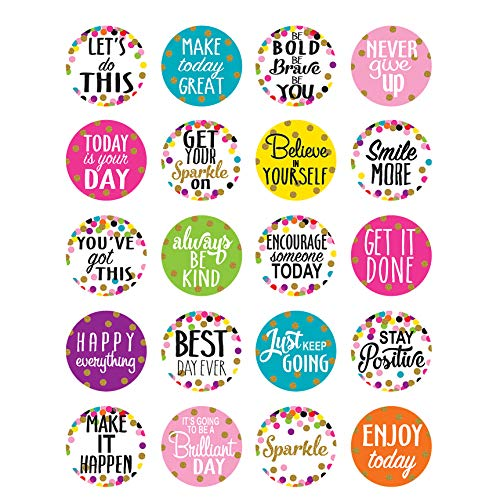 Confetti Words to Inspire Planner Stickers