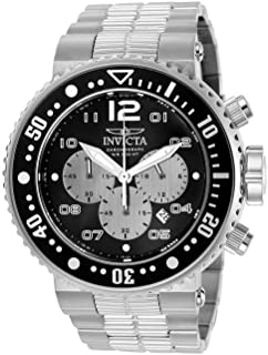 Invicta Men's Pro Diver Quartz Diving Watch with Stainless-Steel Strap, Silver, 14 (Model: 25073)