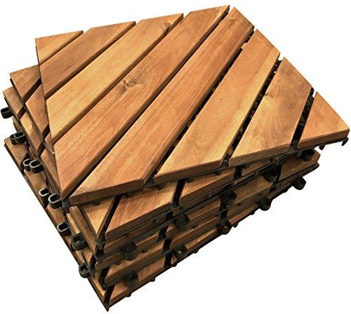 Diagonale Terrassenfliesen – Die berühmten Klick-Deck Hartholz-Fliesen – Terrasse, Balkon, Dachterrasse, Whirlpool-Fliesen, Bodenbelag