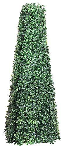 Decovego Buchsbaum Pyramide Künstliche Pflanze Buxus Deko 65cm Innen und Aussen