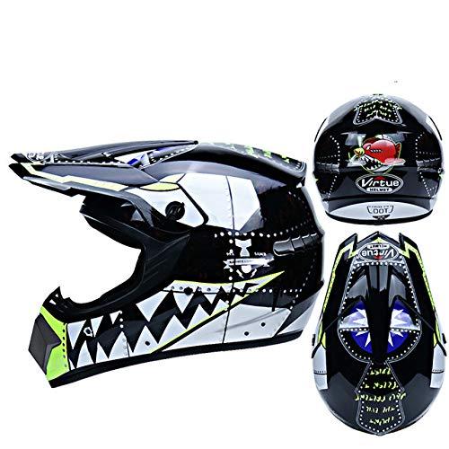 Motorrad Helm Kinder Offroad Helm Fahrrad Downhill Cross Helm Kapazität Motocross Casco-a62-XL