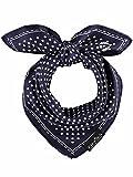 FRAAS Halstuch Damen gepunktet - 53 x 53 cm Größe - Nickituch Seide - Seidentuch für Damen mit Polka Dots Muster - Bandana Tuch perfekt für den Sommer Marine
