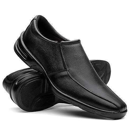 Sapato Social Masculino Em Couro Ultra Confortável Cor:Natural;Tamanho:40