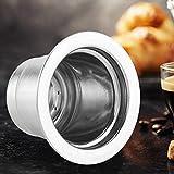 Café de la cápsula, de Acero Inoxidable Reutilizable Recargable de café de la cápsula Compatible con la máquina de café...
