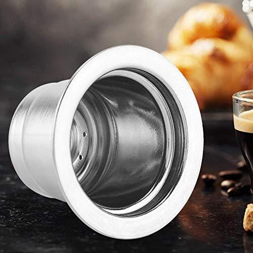 Café de la cápsula, de Acero Inoxidable Reutilizable Recargable de café de la cápsula Compatible con la máquina de café Nespresso