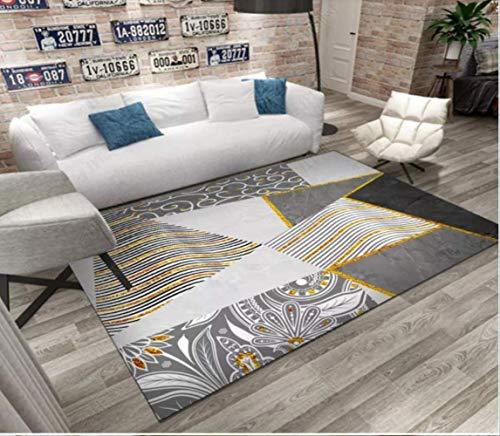 ZhenHe Alfombra suave fácil de limpiar para interiores, para salón, dormitorio, mesita de noche, sofá, mesa de café, ideal para dormitorio, sala de estar, habitación de los niños.