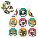 Sinestour Cute Cats Baby Car Seat Covers – Copertura per allattamento al seno – Copertura per seggiolino auto multiuso per bambini
