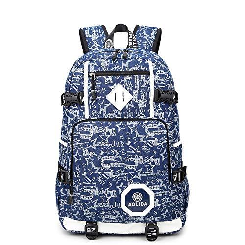 Schoudertas voor school, middelgroot, voor buiten, camouflage-reisrugzak voor buiten, laptoptas, ritssluiting, studenten op school