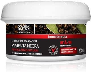 Creme de Massagem Pimenta Negra, D'agua Natural, 300 g
