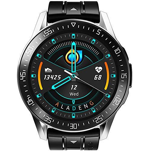 YPSMCYL D3 Runde Bildschirm Smartwatch Armband Herzfrequenz Blutdruck Multifunktionale D3 Sport Erwachsenen Mittelschüler Körpertemperatur Uhr,D3black[bodytemperatureversion]
