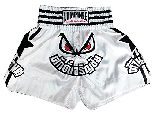 Lumpinee Muay Thai Boxhose, Weiß, Größe XXXL