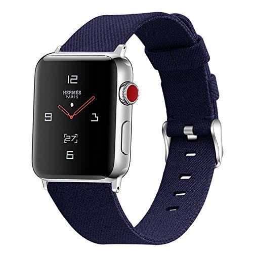 Compatible con Apple Watch Band 42 mm / 44 mm 38 mm / 40 mm, Correas clásicas de Tela de Lona para Apple Watch Series 4, Series 3, Series 2/1, Pulseras Deportivas,A,42mm/44mm