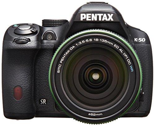 tax cameras Pentax K-50 16MP Digital SLR with 18-135mm Lens (Black) - International Version