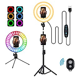 53%OFF 10″ Selfie Ring Light with Tripod Stand and Cell Phone Holder