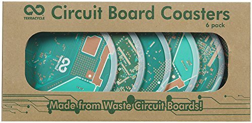 TerraCycle Circuit Board Coasters, set of 6