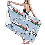 Night-Shop Two Lemurs and Word Madagascar Funny Bathroom Microfiber Towel - Toallas de Playa para Hombres Mujeres Niños Hotel SPA Toallas de baño