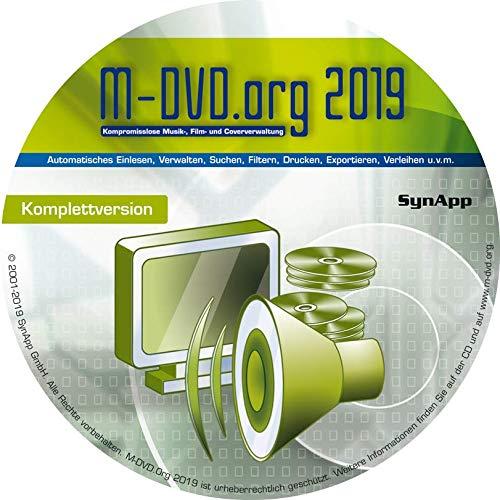M-DVD.Org 2019 - Komplettversion - Musik, Film & Cover-Verwaltung mit DVD-Archiv
