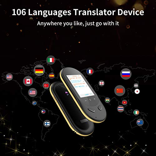 Language Translator Device Offline Translator Device Two Way Instant Voice Translator Audio Memo Recording Translation Support 106 Languages Travelling Learning Shopping Business Chat Shopping Black Photo #6
