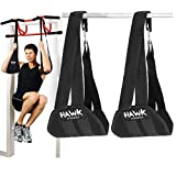 Hawk Sports Ab Straps Hanging Abdominal Slings for Pullup Bar Chinup Exercise Abs Stimulator Trainer Toner Home Gym Fitness Ab Workout Equipment for Men & Women (Black)