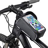 Cuadro de la Bicicleta Bolsa, a Prueba de Agua Bolsa de la Bicicleta de Ciclo Superior Delantera del Tubo de Pantalla táctil Parasol Bolsa de Almacenamiento para el iPhone hasta 6,5''